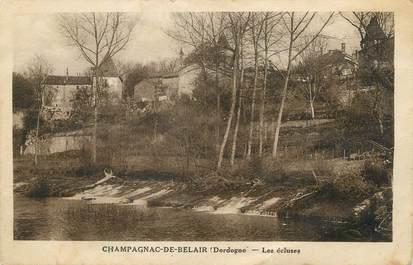 """/ CPA FRANCE 24 """"Champagnac de Belair, les écluses"""""""