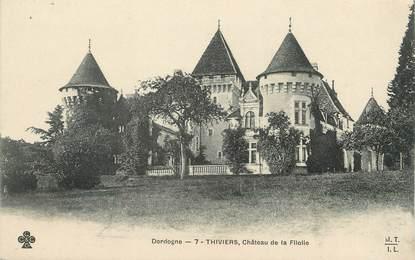 """/ CPA FRANCE 24 """"Thiviers, château de la Filolie"""""""