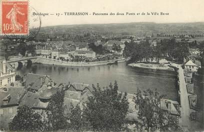 """/ CPA FRANCE 24 """"Terrasson, panorama des deux ponts et de la ville basse"""""""