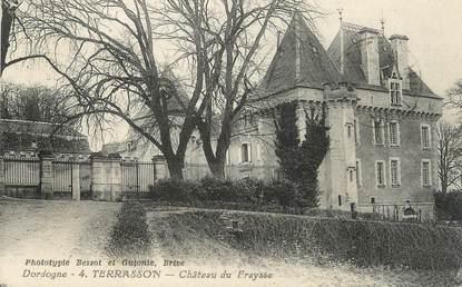 """/ CPA FRANCE 24 """"Terrasson, château de la Fraysse"""""""