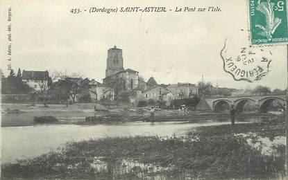 """/ CPA FRANCE 24 """"Saint Astier, Le pont sur l'Isle"""""""