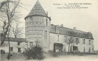 """/ CPA FRANCE 24 """"Environs de Ribérac, tour de la Rigale"""""""