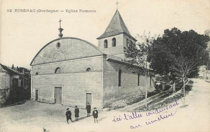 "/ CPA FRANCE 24 ""Ribérac, église Romane"""