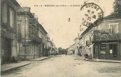 """/ CPA FRANCE 24 """"Montpon sur l'Isle, la grande rue"""""""