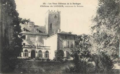 """/ CPA FRANCE 24 """"Le Buisson, château de Latour"""""""