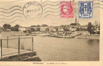 """/ CPA FRANCE 24 """"Bergerac, le port et la ville"""""""