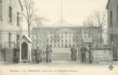 """/ CPA FRANCE 24 """"Bergerac, caserne du 108ème régiment d'infanterie"""""""