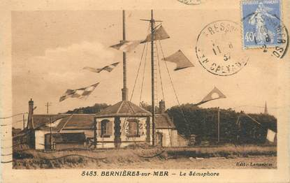 """/ CPA FRANCE 14 """"Bernières sur Mer, le Sémaphore"""""""
