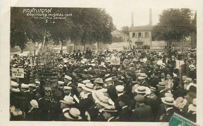 "CPA  FRANCE 03 ""Montluçon, concours musical 1910 """