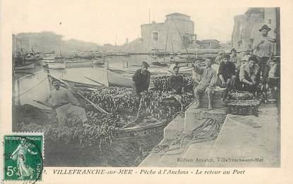 """CPA FRANCE 06 """"Villefranche sur Mer, la pêche à l'Anchois"""""""