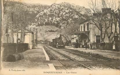 """CPA FRANCE 13 """"Roquevaire, la gare"""" / TRAIN"""