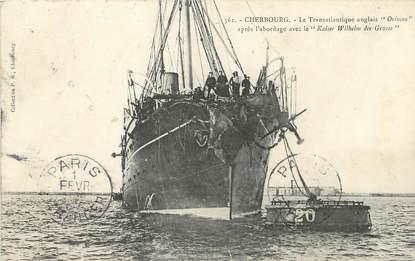 "/ CPA FRANCE 50 ""Cherbourg, le transatlantique Anglais Orinoco"""