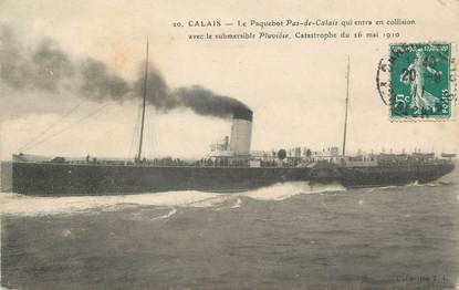 "/ CPA FRANCE 62 ""Calais, le paquebot Pas de Calais"" / BATEAU"