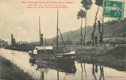 """/ CPA FRANCE 27 """"Pont Audemer, Risle Maritime, le bateau Pont Audemer"""""""