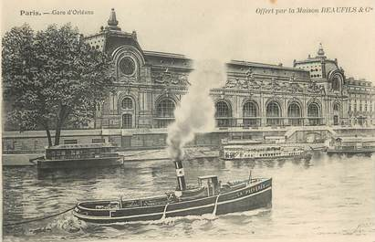 """/ CPA FRANCE 75007 """"Paris, gare d'Orléans"""" / REMORQUEUR"""