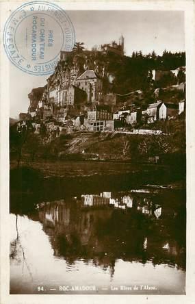 """CPSM FRANCE 46 """"Rocamadour, les rives"""""""