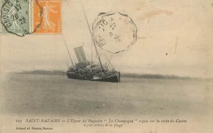 """/ CPA FRANCE 44 """"Saint Nazaire, l'épave du paquebot La Champagne"""""""