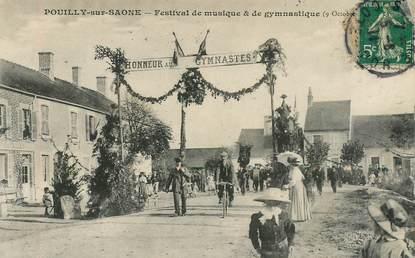 """CPA  FRANCE 21 """"Pouilly sur Saone, festival de musique et de Gymnastique"""""""