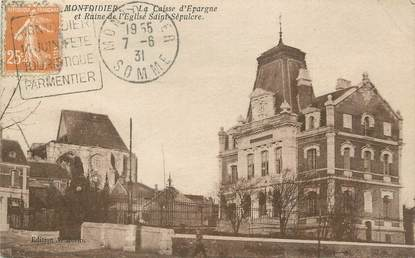 """/ CPA FRANCE 80 """"Montdidier, caisse d'épargne"""" / CE / BANQUE"""