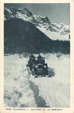 """/ CPA FRANCE 74 """"Chamonix, Auto ski et le Brévent"""""""