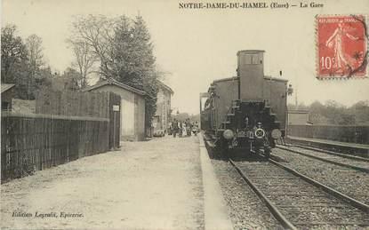 "CPA FRANCE 27 ""Notre Dame du Hamel, la gare "" / TRAIN"