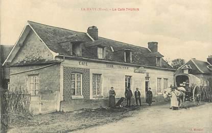 """CPA FRANCE 27 """"la Haye, le Café THURIN"""" / EPICERIE"""