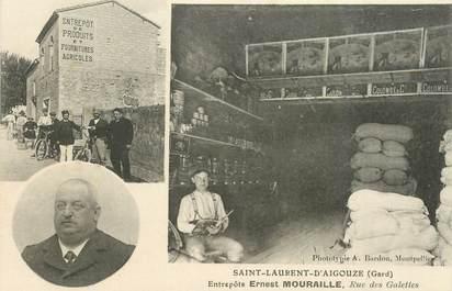 """CPA FRANCE 30 """"Saint Laurent d'Aigouze, Entrepôts Ernest Mouraille, rue des Galettes"""""""