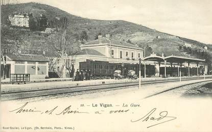 """CPA FRANCE 30 """"Le Vigan, la gare"""" / TRAIN"""