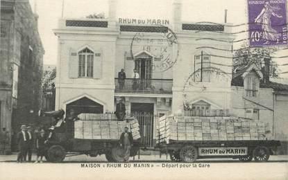 """CPA FRANCE 33 """"Maison Rhum du Marin, départ pour la gare"""""""