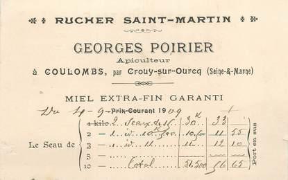 "/ CPA FRANCE 77 ""Crouy sur Ourcq, rucher Saint Martin"" / APICULTURE"