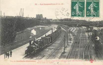 """/ CPA FRANCE 75012 """"Paris, vue de Conflans Charenton"""" / LES LOCOMOTIVES"""