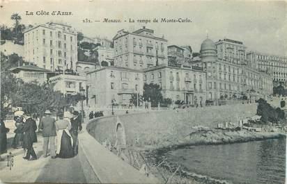 """/ CPA MONACO """"Monaco, la rampe de Monté Carlo"""""""