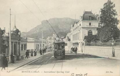 """/ CPA MONACO """"Monte Carlo, international Sporting Club"""" / TRAMWAY"""