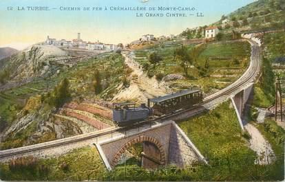 """/ CPA FRANCE 06 """"La Turbie, chemin de fer à crémaillère de Monte Carlo, le grand Cintre"""""""