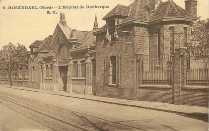"/ CPA FRANCE 59 ""Rosendael, l'hôpital de Dunkerque"""