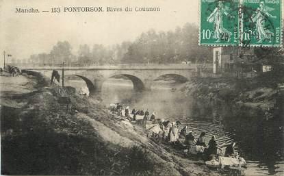 """/ CPA FRANCE 50 """"Pontorson, rives du Couanon"""""""