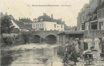 """/ CPA FRANCE 18 """"Saint Amand Montrond, Pont Paquet"""""""