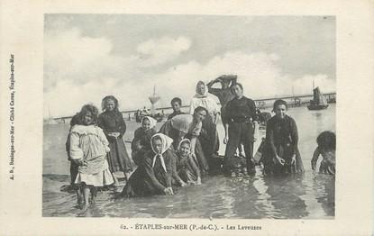"""/ CPA FRANCE 62 """"Etaples sur Mer, les laveuses"""""""