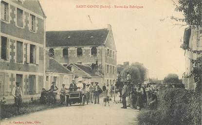 """CPA FRANCE 36 """"Saint Genou, rte des Fabriques"""""""