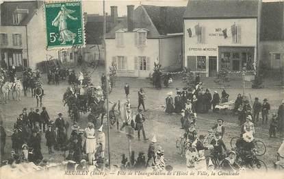 """CPA FRANCE 36 """"Reuilly, Fête de l'Inauguration de l'Hotel de Ville"""""""