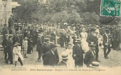"""CPA FRANCE 36 """"Chateauroux, fête berrichone, réception à la préfecture des Reines de la Vallée Noire"""""""