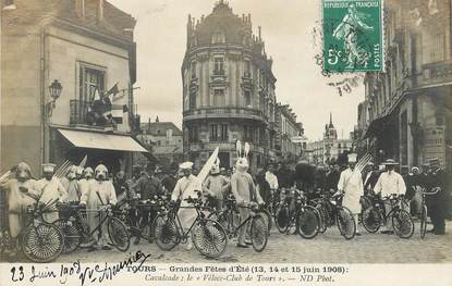 """CPA FRANCE 37 """"Tours, grandes fêtes d'été,  1908"""""""