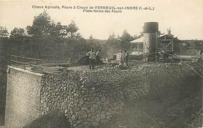 """CPA FRANCE 37 """"Verneuil sur Indre, Fours à Chaux"""""""