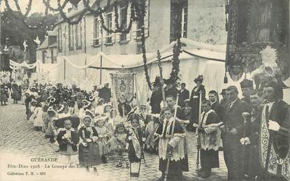 "CPA FRANCE 44 ""Guérande, la Fête Dieu 1908"""