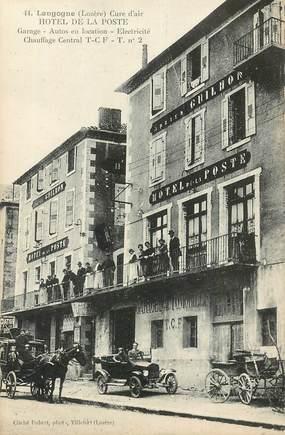 """CPA FRANCE 48 """"Langogne, Hotel de la Poste"""""""