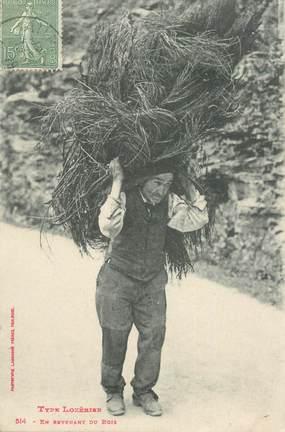 """CPA FRANCE 48 """"Type Lozérien, en revenant du Bois"""""""