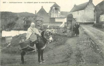 """CPA FRANCE 62 """"Achicourienne, le départ pour le marché d'Arras"""""""
