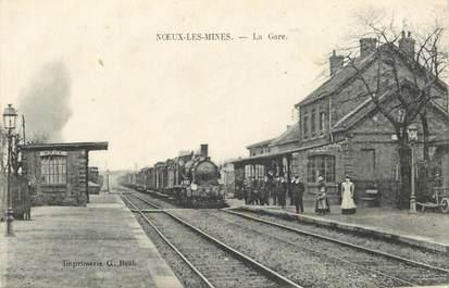 """CPA FRANCE 62 """"Noeux les Mines, la gare"""" / TRAIN"""
