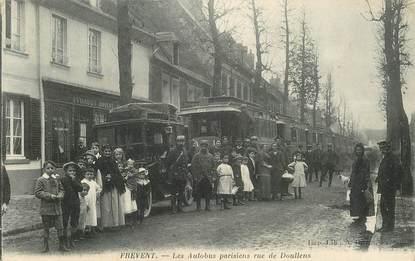 """CPA FRANCE 62 """"Frevent, les autobus parisiens rue de Doullens"""""""