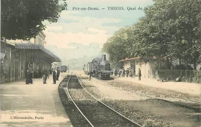 """CPA FRANCE 63 """"Thiers, la gare"""" / TRAIN"""